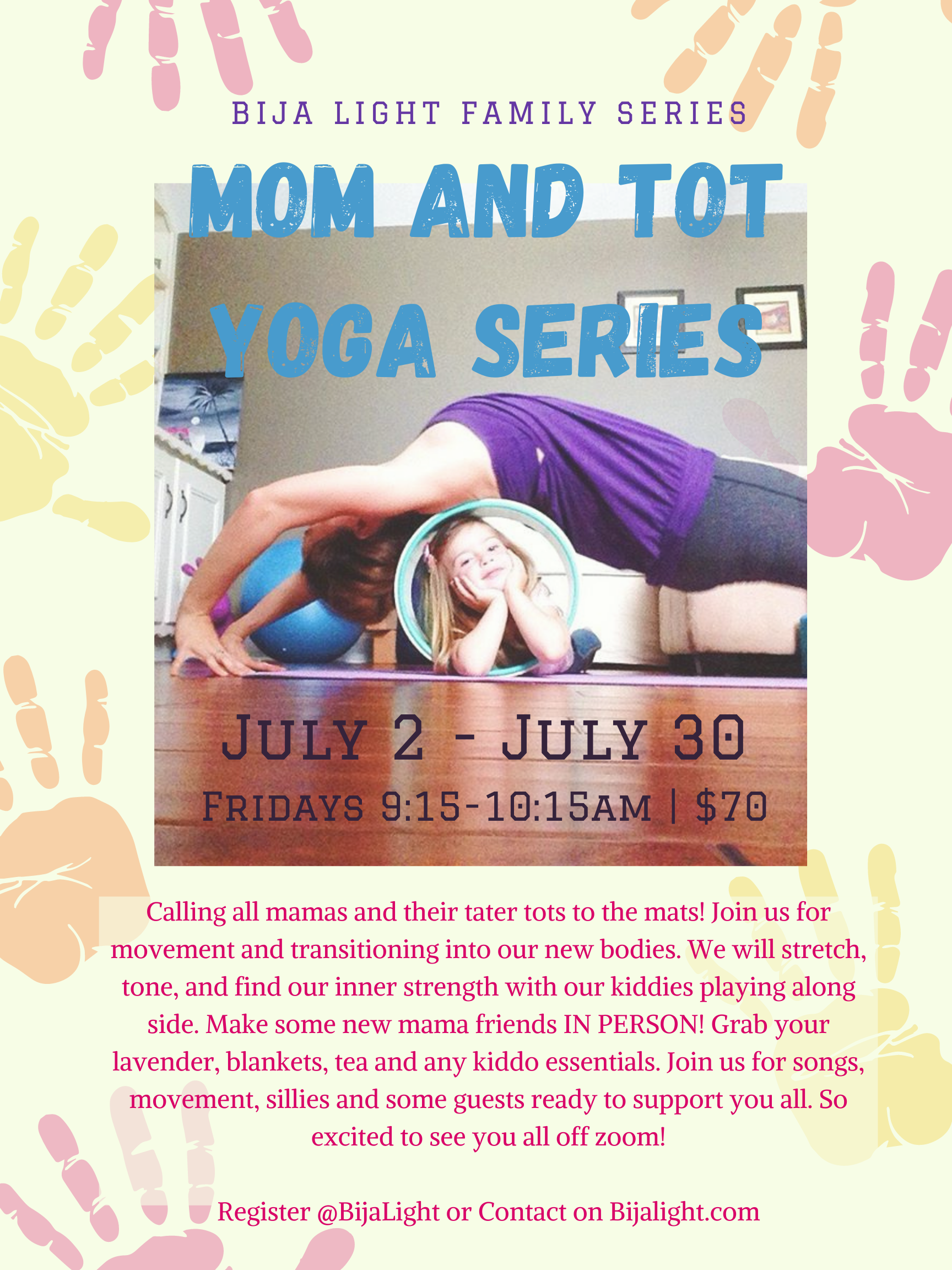 Mom and Tot Yoga Series - July 21